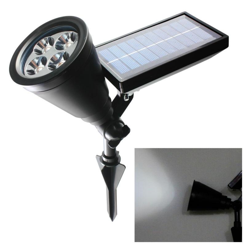 Nueva llegada Led luz solar al aire libre 4 LEDs Proyector de - Iluminación exterior - foto 6