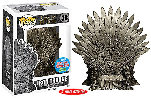 NYCC Exclusive 6'' Funko pop Official TV: Game of Thrones - Iron Throne #38 Collectible Vinyl Figure Model Toy with Original box exclusive funko pop official dc heroes wonder woman 177 blue dress action figure collectible model toy with original box