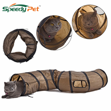 New Arrival120cm BrownSPet Cat Tennel Toy Pet Play Tunnel Funny Kitten Collapsible PlayTunnel for Fun