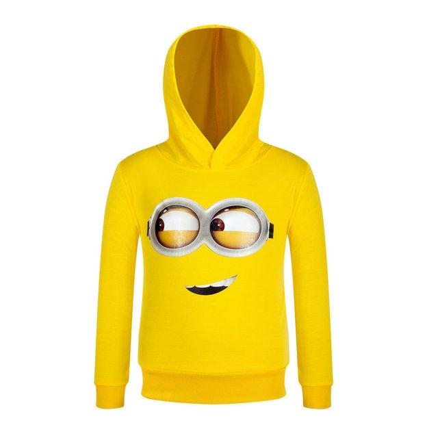 Желтый Весна тонкий срез небольшой желтый человек детей весенние модели толстовки мальчик и девочка толстовка пальто