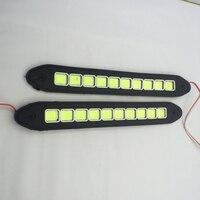 New Car LED DRL Driving lâmpada Dobrável levou tempo do Dia Luzes de nevoeiro luz de Circulação Diurna COB À Prova D' Água