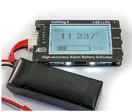 RC C6 High Accuracy Alarm Battery Indicator Lipo battery Voltage Indicator volt meter monitor buzzer Alarm
