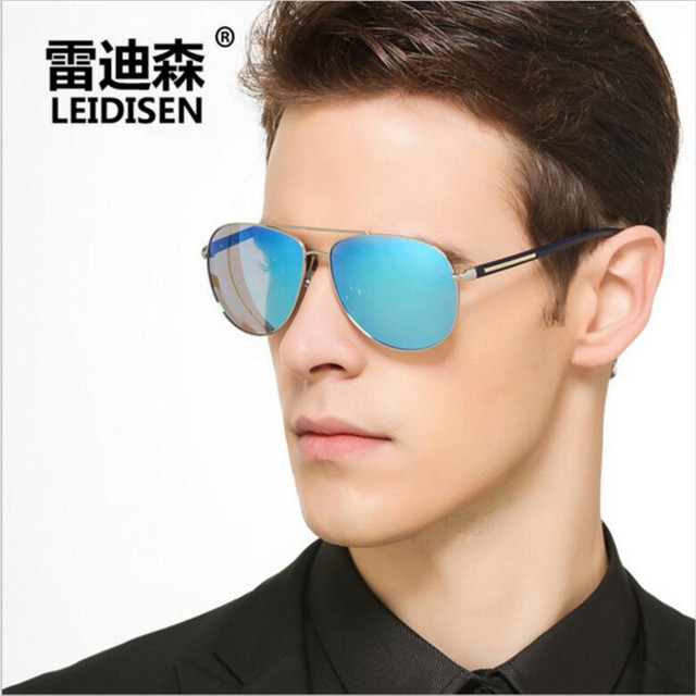 Leidisen merek pria kacamata fashion keren terpolarisasi kacamata matahari  olahraga laki-laki mengemudi kacamata matahari 0725dccb18