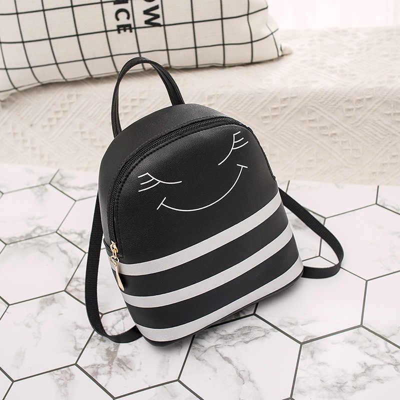 أزياء لطيف حقيبة ظهر صغيرة النساء الكورية نمط حقيبة كتف جلدية pu للفتيات متعددة وظيفة صغيرة Bagpack الإناث الهاتف الحقيبة