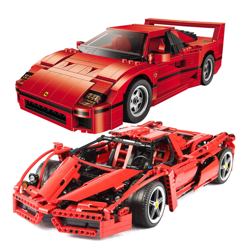 NEW Technic MOC Set Bricks 21004 Ferrarie F1 F40 Enzo Sports Car Model Building Blocks Kits Toys Racers Compatible with 10248