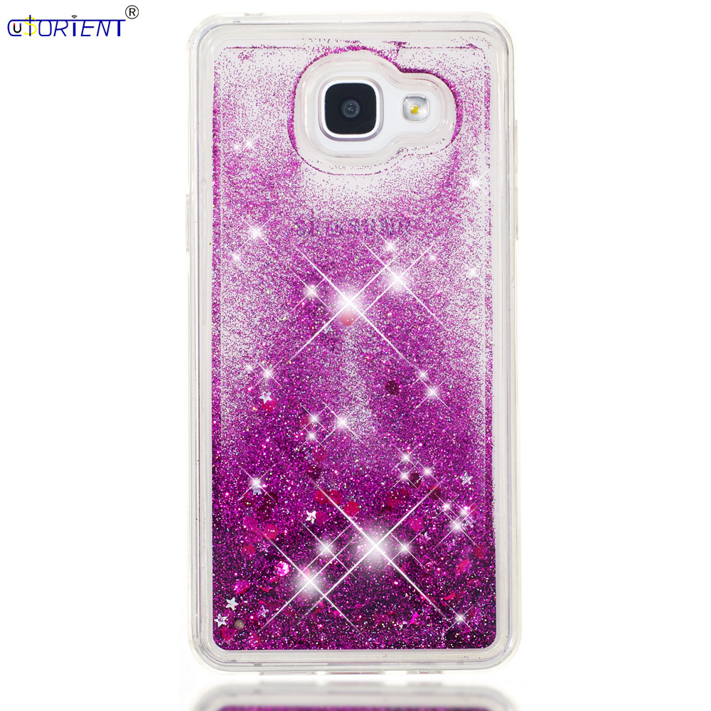 For Samsung Galaxy A5 2016 A56 Bumper Case Sm-a510f/ds Sm-a510x Bling Glitter Dynamic Liquid Quicksand Back Cover Sm A510x A510f Lustrous Surface Cellphones & Telecommunications
