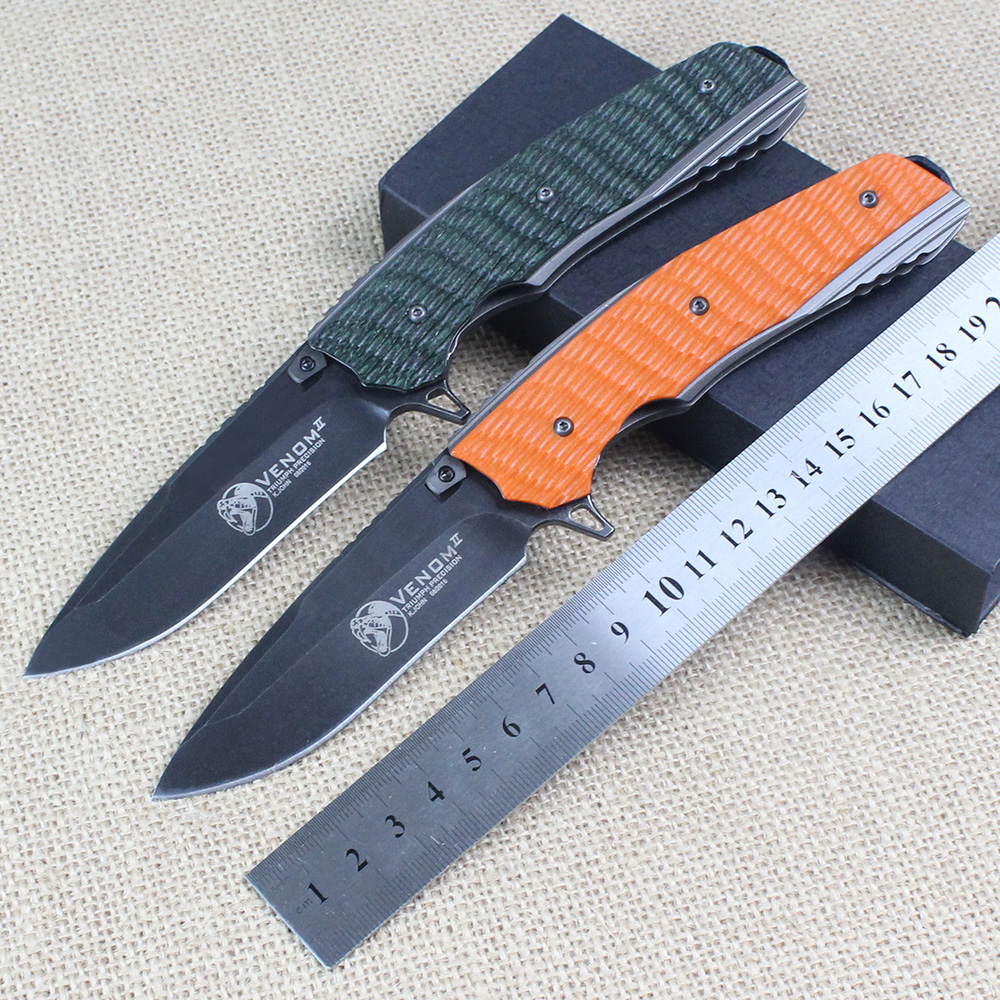 High quality font b Tactical b font folding font b knife b font G10 steel handle