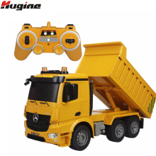RC Truck Dumper 2.4G 4WD Remote Control Tittle Cart Engineer 6CH Recharger Demo Function w