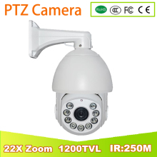 YUNSYE 1200TVL Analog 22X Optical Zoom 1200TVL SONY CCD high speed PTZ IR Dome CCTV Security Camera IR:250M Outdoor waterproof