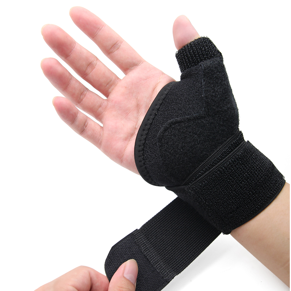 Neoprene Sport Wrist Thumb Support Splint Brace Wrist Hand Strain Sprains Support Protector Pain Relief power knee stabilizer pads lazada