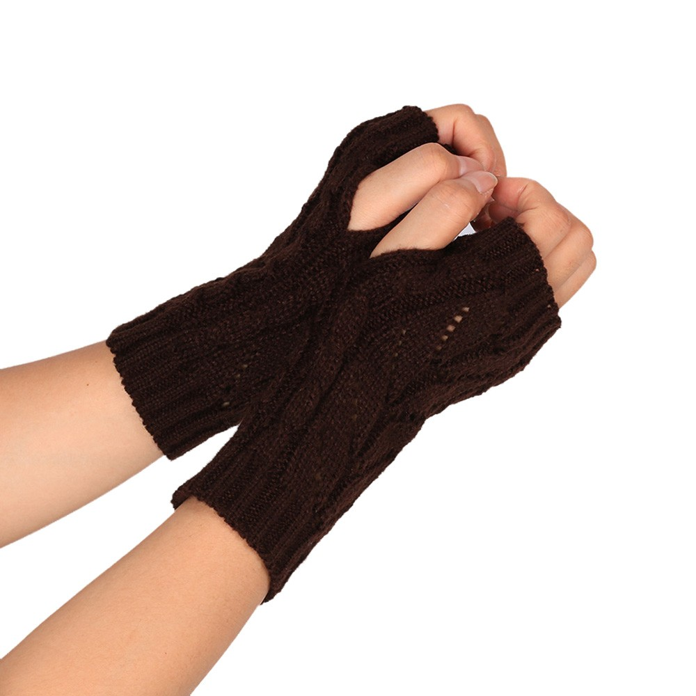 Women/'s Ladies Knitted Fingerless Winter Gloves Soft Warm Mittens Fashion Unisex