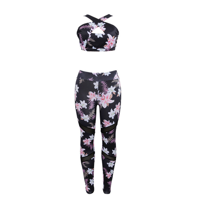 Floral Printed Sports Suit...
