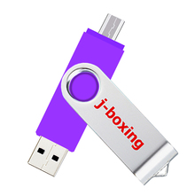 J-boxing OTG USB Flash 64GB Dual Port Pendrive 64gb Micro Drive Swivel Memory Stick for Samsung Huawei Tablet 8 Colors