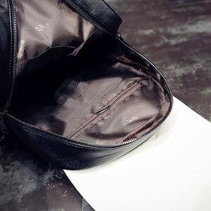 Image 5 - Kadın sırt çantası sıcak satış moda işlemeli kanatları yüksek kaliteli kadın omuzdan askili çanta PU deri kızlar için sırt çantaları mochila