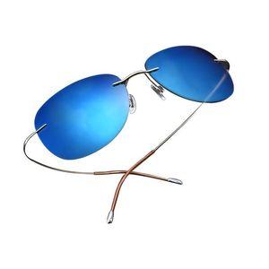Image 2 - Bright 2019 Bestseller Ultra light Rimless Titanium Polarized Sunglasses Men Women Driving Brand Sun Glasses Shade Oculos De Sol