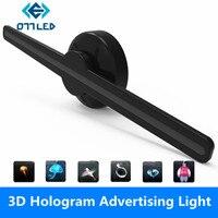 Светодио дный голографический проектор Портативный голограмма плеер 3D голографическая экрана вентилятор уникальная голограмма проектор