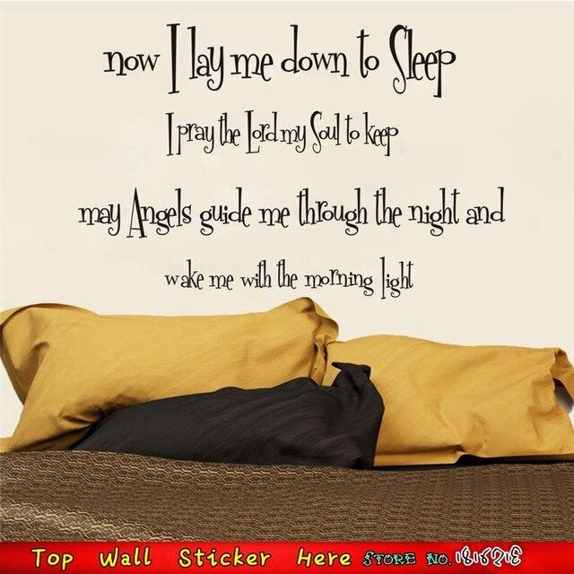 Parole Dio Vi Benedica Buonanotte Sonno Citazioni Wall Sticker Diy