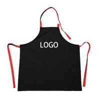 Baumwolle Leinwand Schürze Küche Arbeitskleidung Restaurant Kaffee Nagel Milch Tee Shop Anpassbare LOGO freies drucken