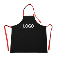Cotton Canvas Apron Kitchen Work Clothes Restaurant Coffee Nail Milk Tea Shop Customizable LOGO free printing