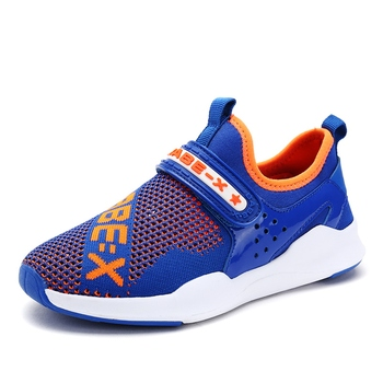 2018 New Arrival Summer Children breathable mesh Shoes For Boys Girls Sports Sneakers Soft Bottom Black Blue size 30-38 Boy's Shoes