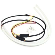 White Yellow Blue 30cm 45cm 60cm DRL Flexible LED Tube Strip Daytime Running Lights Turn Signal