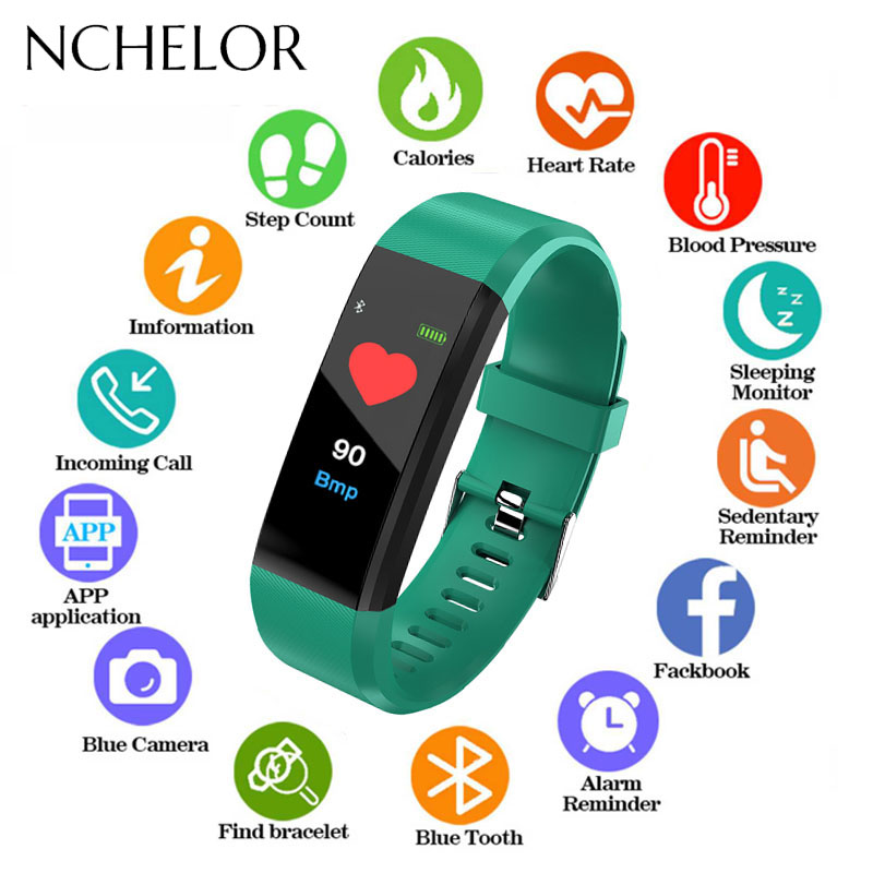 New Children's Watches LED Digital Sport Smart Band for Men Women Pedometer Calorie Calculation Message Reminder Fitness Tracker