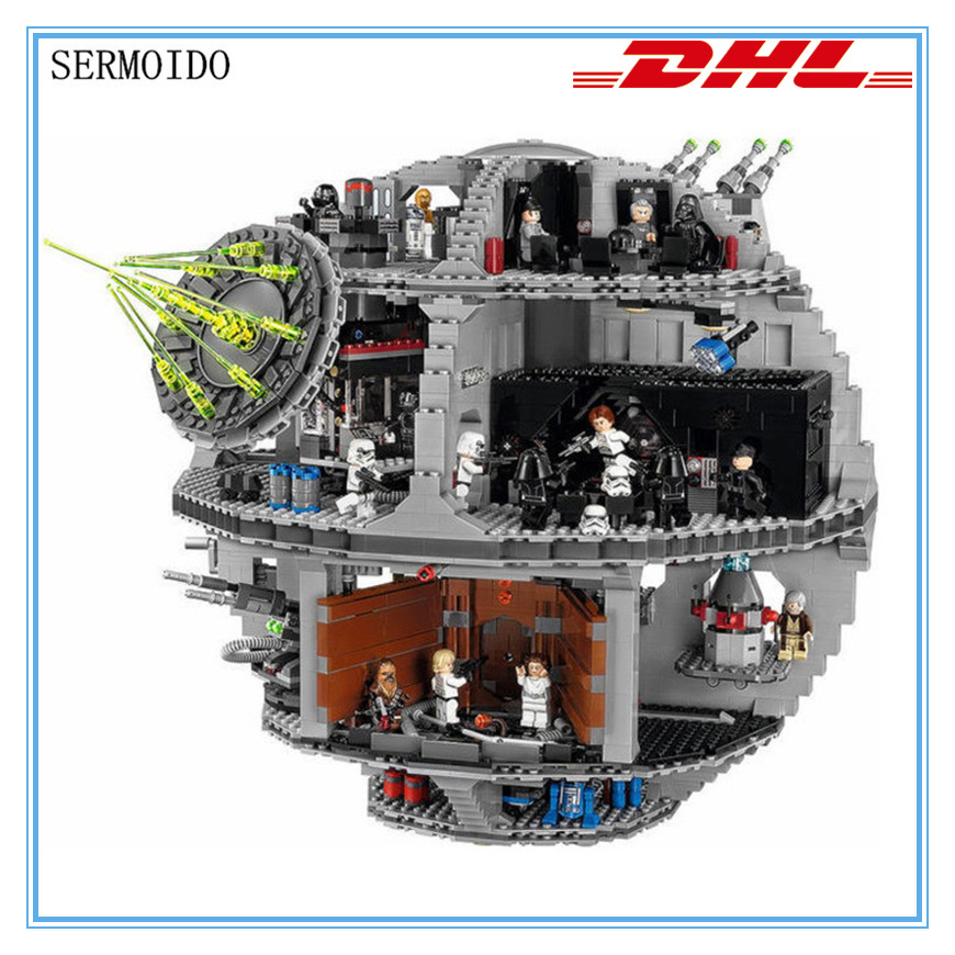 3803pcs LELE 35000 NEW Star Wars Death Star Building Block Bricks Toys Kits Compatible with LEPIN 05035 10188 Child Gift B217 lepin 22001 pirate ship imperial warships model building block briks toys gift 1717pcs compatible legoed 10210