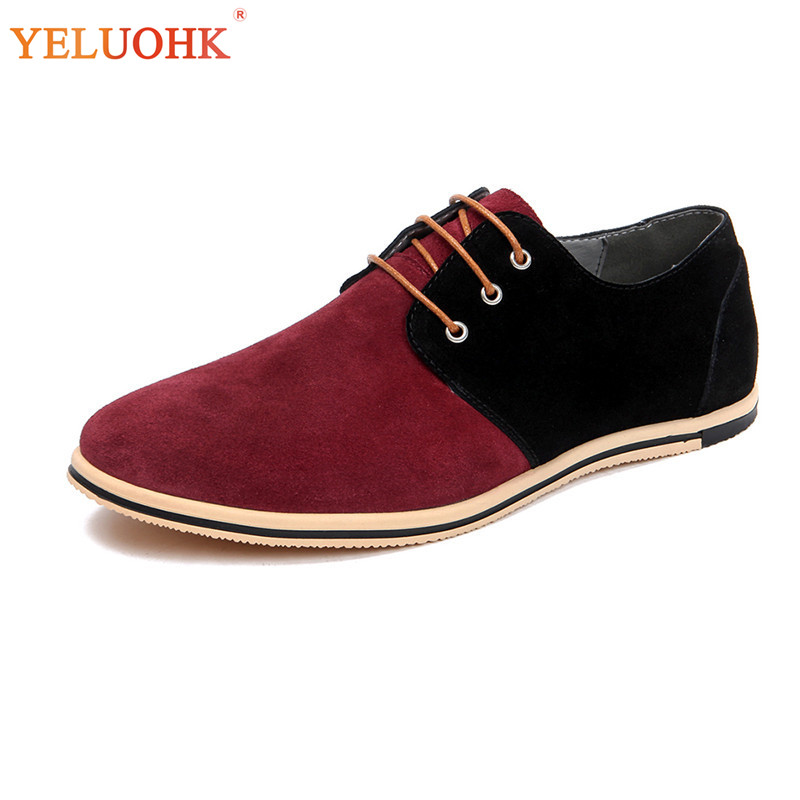 Hommes Lacets Chaussures Cuir brown Black Taille 2018 49 Automne red Grande À 38 gray En New xwIqv