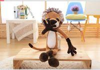 cute creative plush long legs lion toy big eyes lion doll gift about 80cm