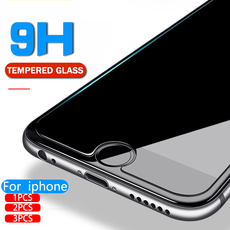 Screen Protector For IPhone X 8 6 6s 7 Glass 8 Plus Transparent Tempered Glass For IPhone XS Max XR 6 7 Plus 5s 5 SE