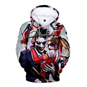 Image 5 - FrdunTommy haha joker e Harley Quinn 3D Stampa Con Cappuccio Da Uomo/donne Hip Hop Divertente Autunno Streetwear Felpe Per Le Coppie vestiti 4XL