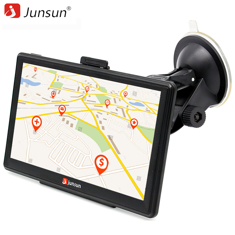 Junsun 7 inch HD Car GPS Navigation Capacitive screen FM 8GB Vehicle Truck GPS Car navigator Europe Sat nav Lifetime Map sat integral s 1221 hd stealth купить есть в наличии