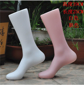 Free Shipping! Top Quality Plastic Mannequin Foot With Base New Style For Show In Store