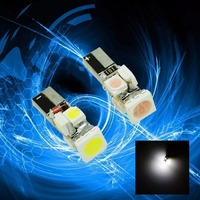 PA LED 5PCS X 5SMD 12V LED WHITE T5 Wedge Dashboard Dash Gauge Light Lamp Bulb