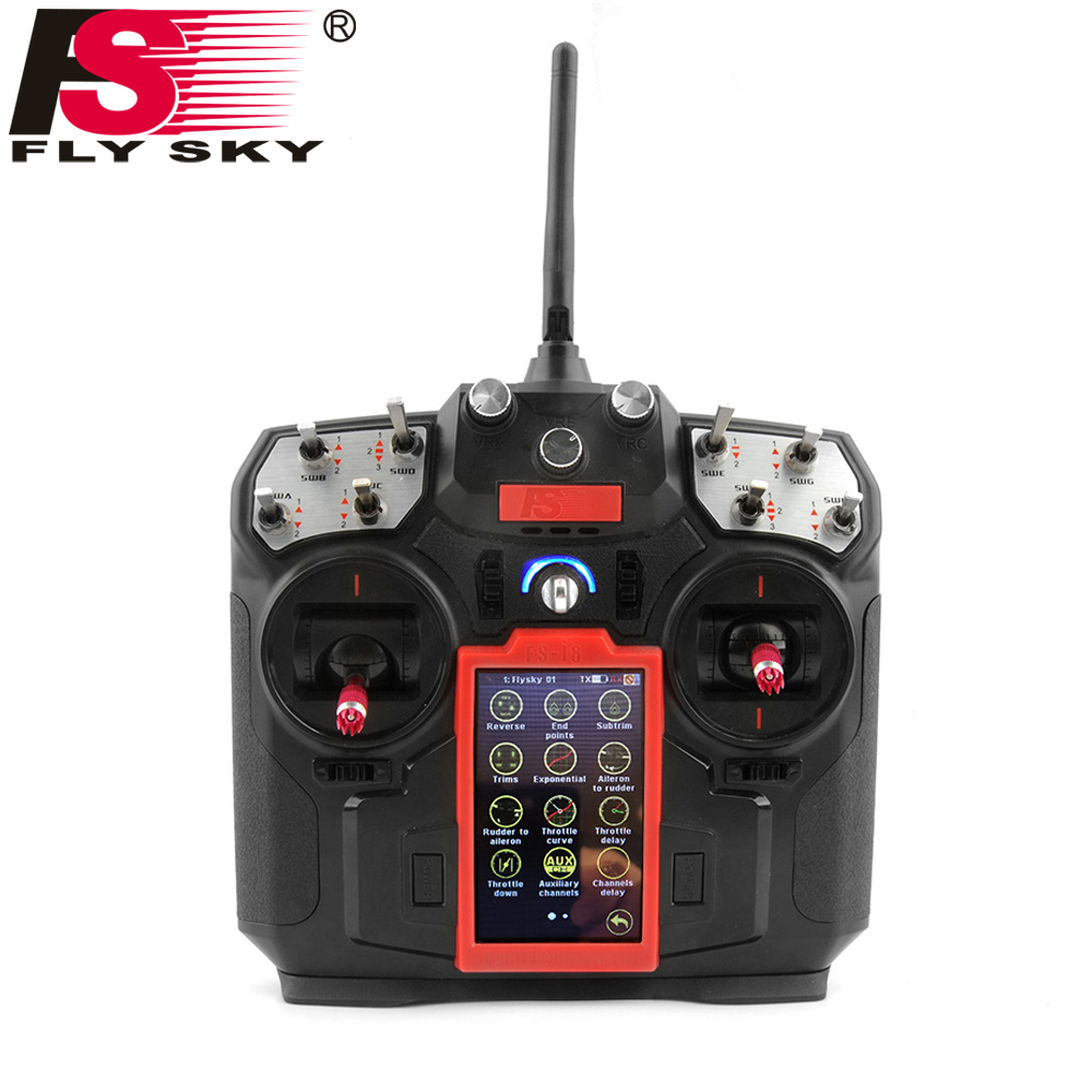 Original FLY SKY FS-I8 Transmitter With FS-IA6B Receiver For RC Drone Quadcopter Airplanes Fixed-wing Glider Helicopter