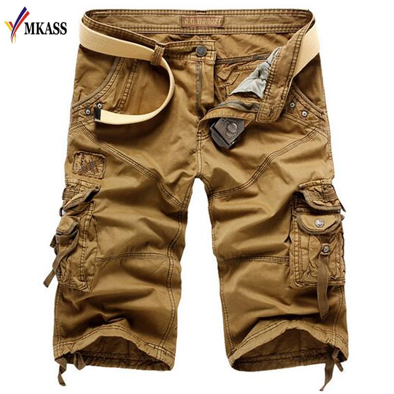 Hot Sale Casual Camouflage Cargo Shorts Men Summer Brand Clothing Cotton Male Fashion Army Work Shorts Men