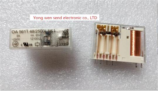 NEW relay OA 5611.48/2500L1/61 85VDC OA5611.48/2500L1/61 OA-5611.48/2500L1/61 OA5611482500L161 85VDC DC85V 85V DIP10 2pcs/lot ht3786d dip10
