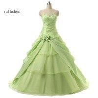2bab556b77 Light Green Masquerade Ball Gowns For Sweet 16 15 Girls With Sequin Beaded  Ruffles Taffeta Bright. Ruthshen luz verde Bola de Mascarada vestidos ...