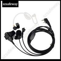 5r uv 3 חוט שני הדרך Surveillance רדיו האוזנייה ערכת אוזניות מיקרופון אוזניות צינור אקוסטית עבור Kenwood עבור Baofeng UV-5R (1)