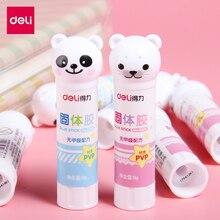 2 шт мультяшная панда морской лев ПВА твердый клей карандаш 9 г высокой вязкости принадлежности для школьников, студентов Детские Канцелярские принадлежности Deli 6366