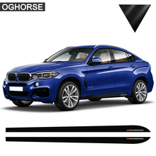 M Performance Side Stripe Skirt Sticker Decal for BMW F30 F31 X5 F15 X6 F16 E60 F32 F34 F22 E90 F10 F11 F01 F02 G30 Z4 E89 F20 jinke 2pcs 5x120 72 5cb centric wheel spacer hubs m14 1 25 bolts for bmw f15 f11 f20 f34 f02 f13 f01 f25 f26 f33 f30 f03 f10 f12