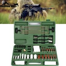 Tactical Gun Rifle Cleaning kits 62Pcs Shot gun Pistol Handgun Cleaner set with Cotton Copper Brush Carry Case Box for Hunting цены онлайн