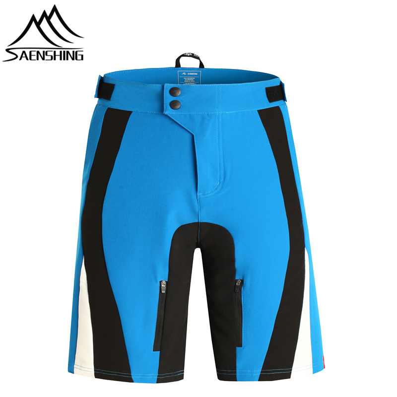 SAENSHING Cycling Shorts Men Breathable Mountain Bike Short Pants Quick Dry MTB Downhill Bicycle Shorts For Man 4 Colors 5 Sizes nuckily ns357 men s quick dry outdoor cycling short pants black m