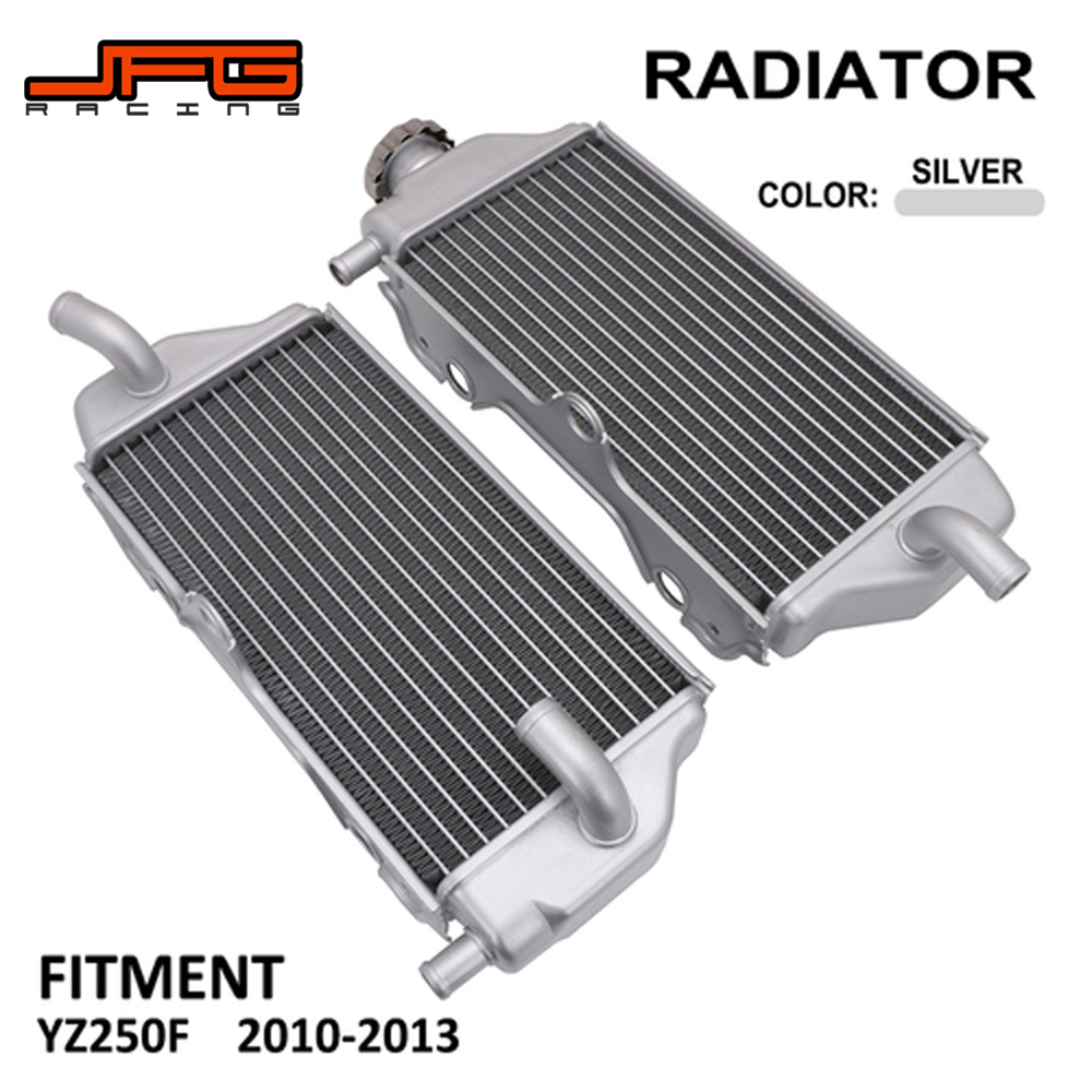 Motorcycle Aluminum Engine Left and Right Cooling Radiator Cooler For YAMAHA YZ250F YZF250 2010 2011 2012