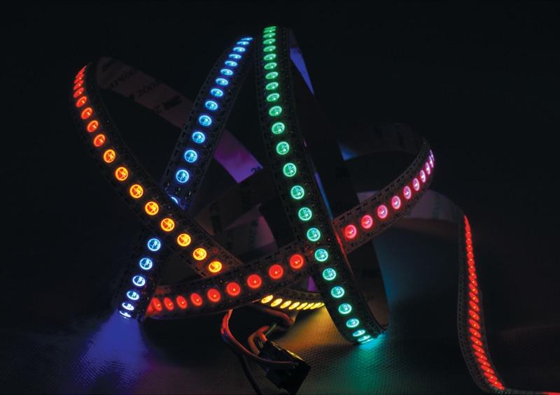 1M/pcs WS2812 DC5V 144LEDs/M Dream Magic Color LED strip,5050 RGB strip Non-Waterproof DIY pixel matrix display good group diy kit led display include p8 smd3in1 30pcs led modules 1 pcs rgb led controller 4 pcs led power supply