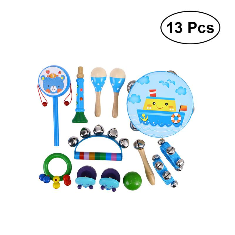 13pcs Percussion Instruments Educational Rhythm Preschool Musical Toys Learning Toys Percussion Playset For Kid Toddler Baby baby toys