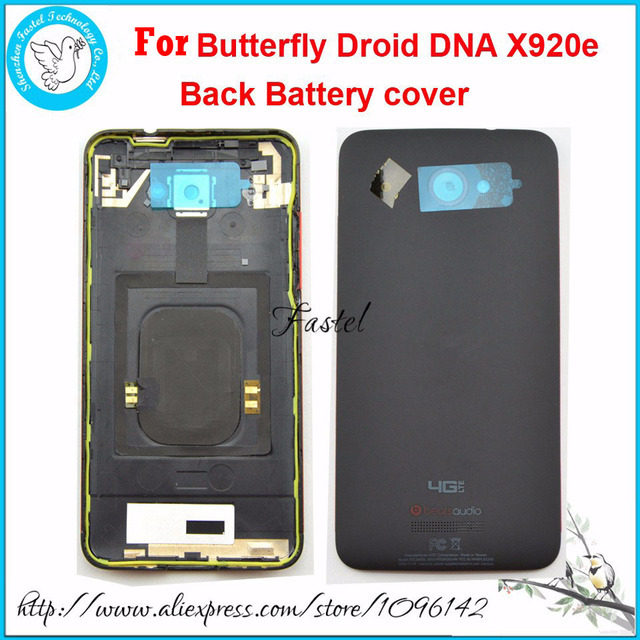 Original New Mobile Phone Back Cover For HTC Butterfly Droid DNA X920e Rear Housing Battery Door Black Color, Free Shipping