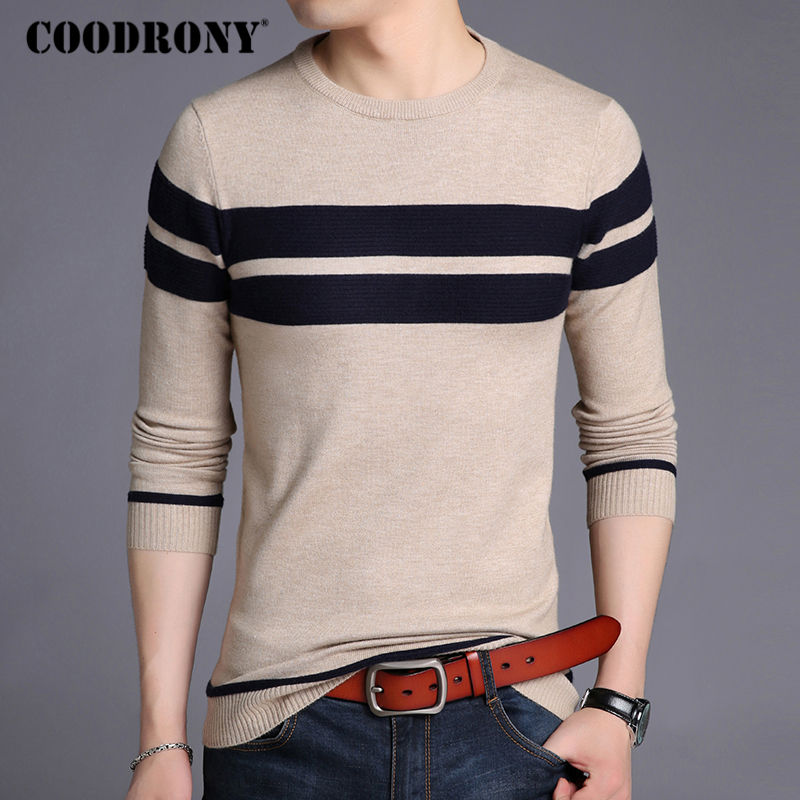 COODRONY Mens Knitted Cashmere Wool Sweaters 2017 Autumn Winter New Pullover Men Casual O-Neck Jumper Sweater Men Pull Homme 217