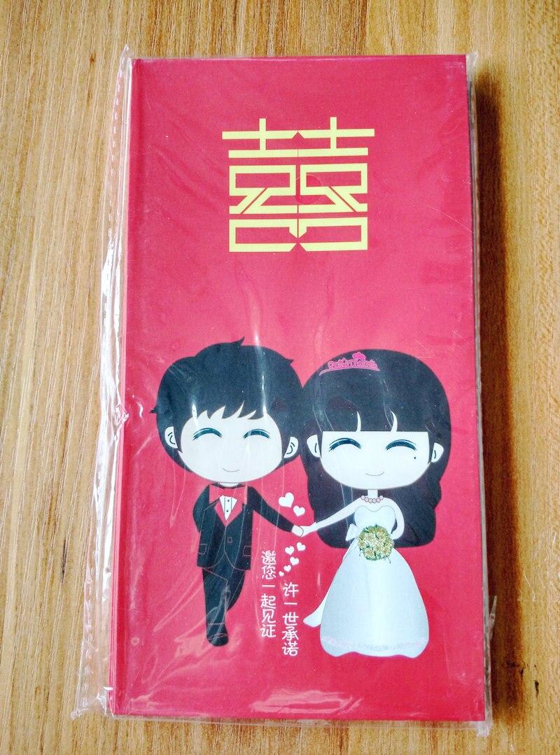 freeshipping new10pcs cartoon wedding envelopes chinese wedding