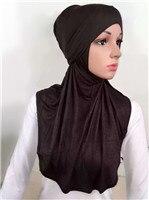 LJ6 модальный Двухсекционный мусульманский хиджаб шарф модный хиджаб оголовье шарф - Цвет: LJ60005